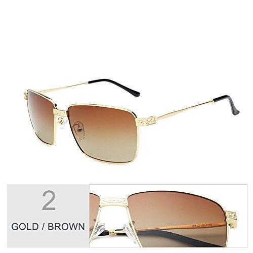 de el hombre UV400 por Guía gafas Brown oro Gold Sunglasses lentes negro gafas polarizadas Vintage Revestimiento TL de sol gris Polaroid pzw8q4Z
