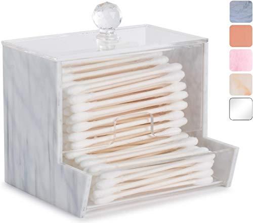 Acrylic Qtip Holder for Qtip Brand Cotton Swabs, Qtip Dispenser, Modern Bathroom Decor, Cotton Swab Holder, Cotton Swab…