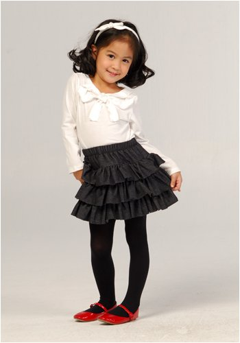 Girls' Lauren Kiyomi Long Sleeved Bow Detail Knit Top - More Colors Available