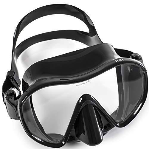Adventure At Nature Kai Scuba Diving Mask (Adults) Frameless, Form-Fitting Leakproof Seal, Clear HD Lens | Dive Goggles for Snorkeling, Spearfishing, Freediving | Underwater Pool, Ocean ()