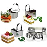 NewlineNY NY3 Stainless Steel Dessert Rings (12 Pcs) Molding, Layering, Cake Cutter