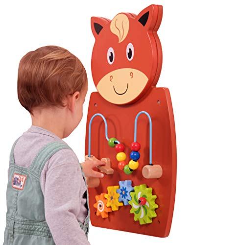 Learning Advantage Horse Activity Wall Panel - Toddler Activity Center - Wall-Mounted Toy for Kids Aged 18M+ - Decor for Bedrooms and Play Areas