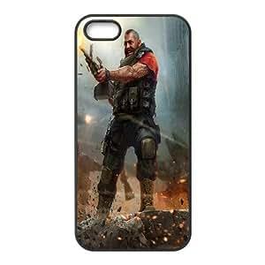 iPhone 5 5s Cell Phone Case Black world of mercenaries character K0H5CG