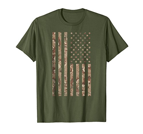 Desert Camo American Flag T-shirt, 4th of July Shirt