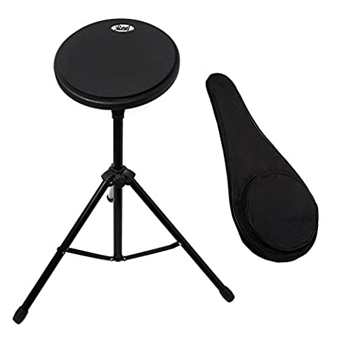 Paititi 8 inch Practice Drum Pad with Adjustable Stand & Carrying Bag (With 7A Sticks)