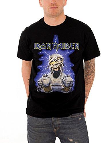 Iron Maiden T Shirt Powerslave Mummy band logo nuovo Ufficiale Uomo nero