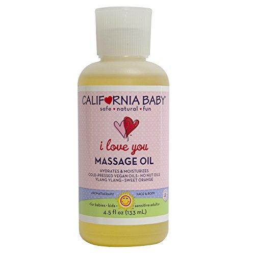 California Baby I Love You Massage Oil - Sweet Orange - 4.5 oz