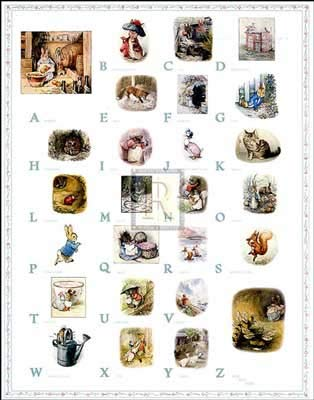 Beatrix Potter - PETER RABBIT ALPHABET NO LONGER IN PRINT - LAST ONE!! ()