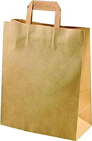 25 piezas Bolsas con asas de Papel Regalo 33 x 28 x 12 cm ...