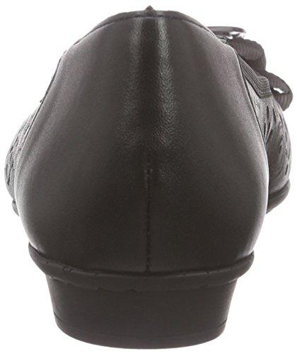 Rieker 46056 Women Closed Toe - Bailarinas Mujer Negro - Schwarz (schwarz / 01)