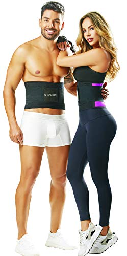 Shapewear for Women Men Tummy Workout Belt Weight Loss Back Support Cut Belly Fat Target Stubborn Back flab 3-Touch Fastener Sauna Waist Trainer Fajas Colombianas para Hombres y Mujeres Reductoras (Best Exercise For Lower Belly Flab)
