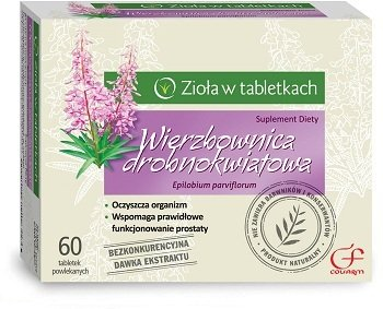 HOARY WILLOWHERB - 60 tablets - Supports correct functioning of prostate - Has antioxidative properties - Cleanses the body - NATURAL !!!