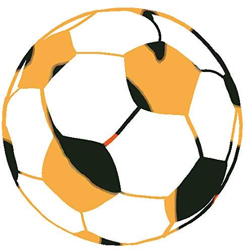 hBARSCI Soccer Ball Vinyl Decal - 5 Inches - for Cars, Trucks, Windows, Laptops, Tablets, Outdoor-Grade 2.5mil Thick Vinyl - Leopard Print