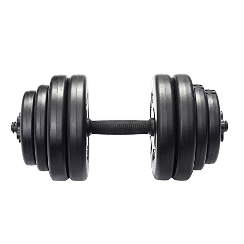 Weight Dumbbell Set 64 LB Adjustable Cap Gym Barbell Plates Body Workout Pump TKT-11