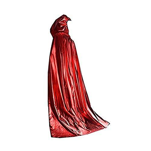 Kaever Party DIY Decorations - Unisex Hooded Cloak Role Cape Play Hood and Costumes - Decorations Party Party Decorations Halloween Victorian Sweet Travel Indian Wolves Blue Order Ghost (red)