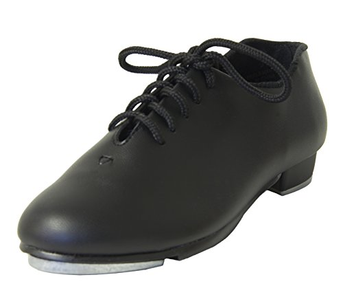 Danshuz Child Oxford Value Black Tap Shoe (11.5M) Black Leather Tap Oxford