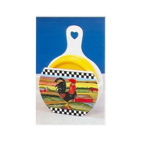 Country Rooster Paper Plate Holder