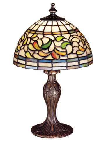 "picture of Meyda Lighting 30314 13.5""H Turning Leaf Mini Lamp"
