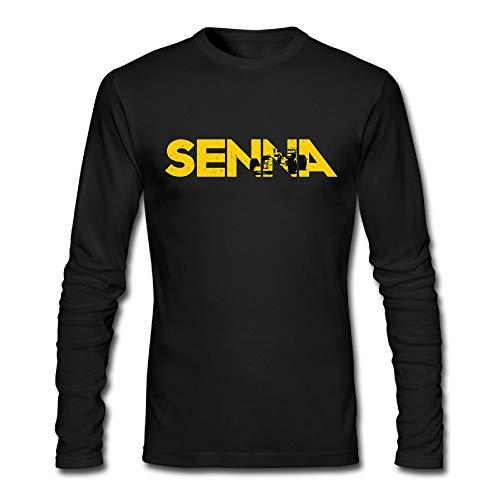 (Ayrton Senna Men's Long Sleeve T-Shirt Cotton Crewneck Shirts)