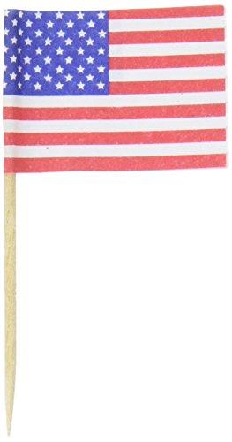 Darice Cupcakes American Toothpicks Multicolored