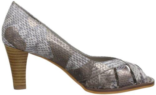 T135c Open Scarpe Snake Leather Schnoor Toe metallic Tacco Natur beige Col Beige Sofie Donna wgRqTXx