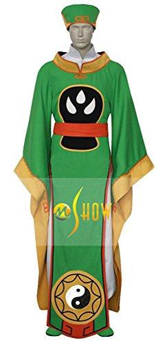 Mtxc Men's Cardcaptor Sakura Cosplay Syaoran Li Robe Size Medium Green - Syaoran Li Costume