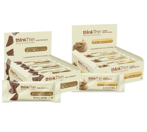 ThinkThin Bundle: Creamy Peanut Butter and Dark Chocolate