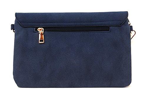 Main Style Velours Sac Bleu Mer's Portés Femme wgAZxxFq