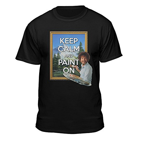 Teelocity Bob Ross Keep Calm And Paint On Officially Licensed T Shirt  3X Large