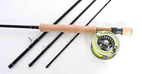 Stradalli Release Series 8 Wt, 9' Long, 4 Piece Fast Action Fly Fishing Rod 100% Carbon Fiber Billet Reel Combo