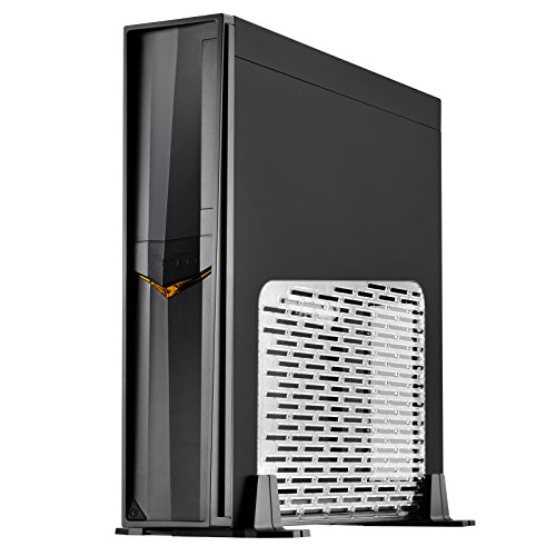 SilverStone Technology Mini-ITX Slim Small Form Factor Computer Case with Side Window RVZ02B-W