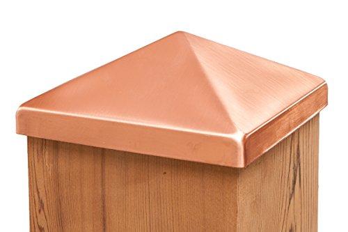 Solid Copper 6x6 Pyramid Post Cap (5-1/2