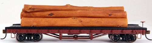 Bachmann Trains - ACF 40' log car with logs (1906-1935) - HO Scale