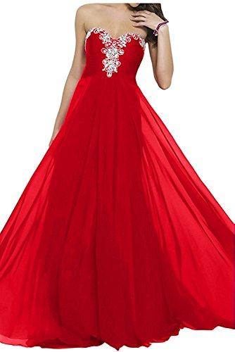 Lamia Braut Elegant Royal Blau Chiffon Traegerlos Abendkleider ...