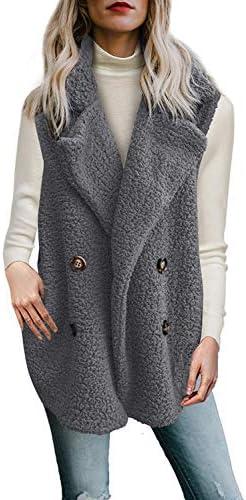 Dokotoo Sleeveless Waistcoat Pockets Outerwear