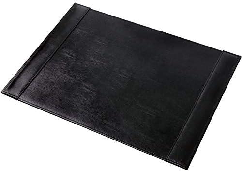 Didal Schreibtischunterlage Leder Schwarz 70x50cm mit zwei Seitenleisten in 7 Nähauswahl (Nähauswahl: Grau)