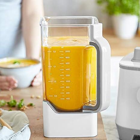 Batidora de vaso HANNO, licuadora para verduras y frutas, Vaso de Tritan 2.5L libre de BPA, 2000W, 32.000 RPM Blender Smoothie Maker alto rendimiento + Libro de Recetas Gratis(Ingles) Version 2020: Amazon.es: