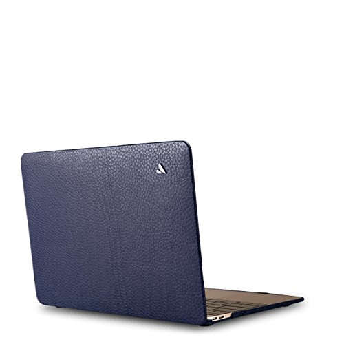 Vaja Cases MacBook Pro 15 Touch Bar Leather Case - Premium Natural Floater Leather - Crown Blue