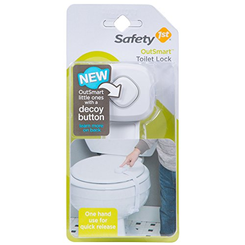 Safety 1st OutSmart Toilet Lock, White (Seat Safety Latch Toilet)
