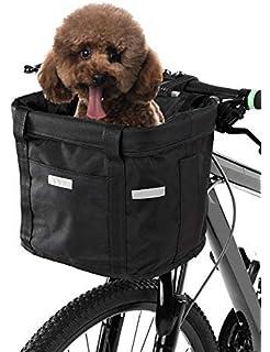 Lixada Vélo Panier Avant Pliant Amovible Vélo Guidon Panier Pet Cat Chien  Transporteur Sac en Aluminium 3a4ec9cd2a8