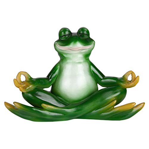 (Design Toscano Zen Yoga Frog Statue, 12 Inch, Polyresin, Full Color)