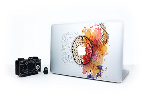 Artsybb Left and Right Brain Removable Vinyl Decal Sticker Skin for Apple MacBook Air Pro 13
