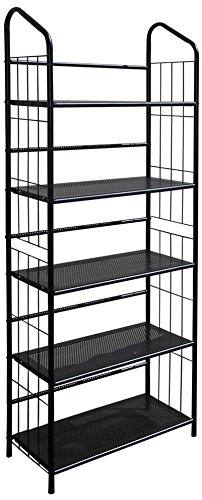 ORE International R597-5 Five Tier Metal Book Rack (Shelf Deep 1 Foot)