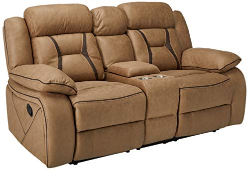 Houston Motion Loveseat with Cupholder Storage Console