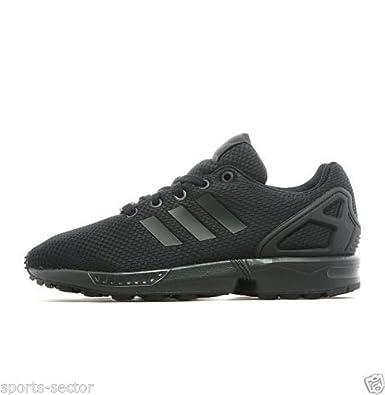 more photos e975c d7ae5 adidas Originals ZX Flux Junior Trainers Shoes Black Black (UK-5.5)