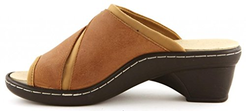 Casual Comfortiya Women's Tan Joy Slide Sandal Leather 818fPtgqwn