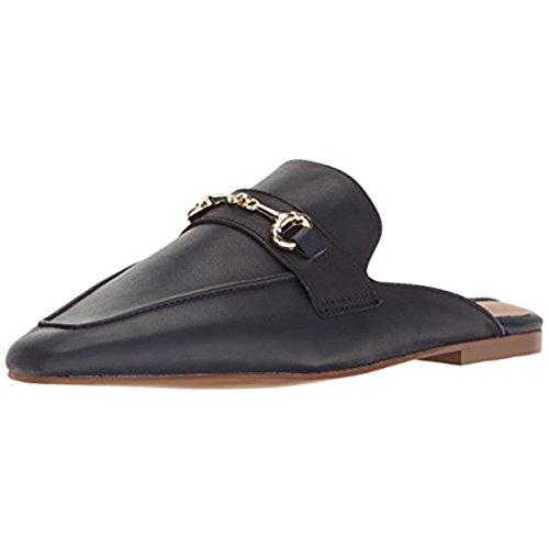 STEVEN by Steve Madden Women's Razzi-l Pointed Toe Flat, Navy Leather, 7 M US (Steven By Steve Madden Womens Razzi Mule)