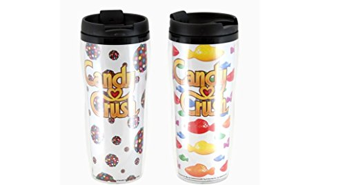Candy Crush Travel Mug set of 2 (Commonwealth Games Costumes)