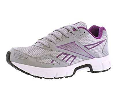 Reebok Women's Versa Run Running Shoe Grey Aubergine Purple Black White 6.5