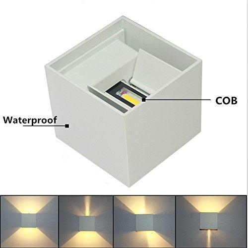 BOLXZHU (2 Pack) LED Waterproof Wall Lamp ...